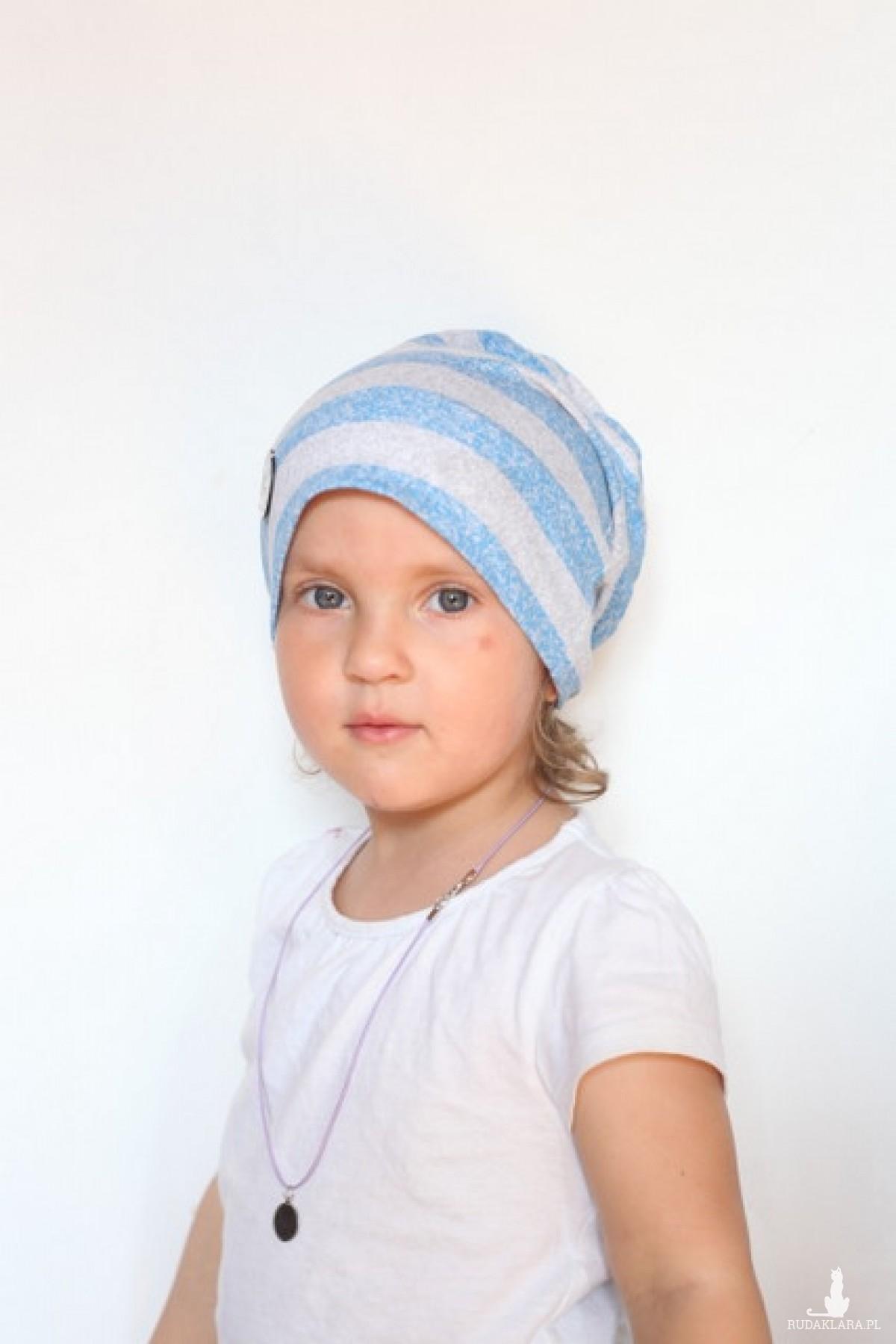 czapka dziecięca w paski