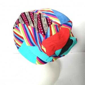 czapka damska kolorowa patchworkowa sportowa wiosenna
