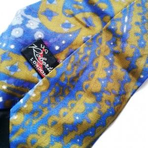 krawat vintage w kolorze niebieskim