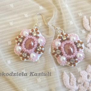 Kolczyki haft koralikowy: Romantyczne