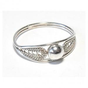 45 pierścionek vintage, srebrny, delikatny pierścionek, filigran; na prezent, na co dzień;