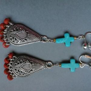 klipsy długie orientalne w stylu boho