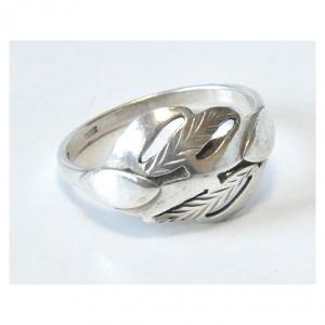 57 pierścionek vintage, srebrny, oryginalny, ciekawy kształt;