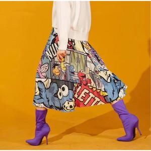 plisowana spódnica rozmiar M motyw mapety
