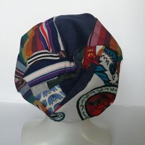 czapka boho kolorowa damska dziecięca patchworkowa- żuczek który toczy kulkę zawsze ma pod górkę