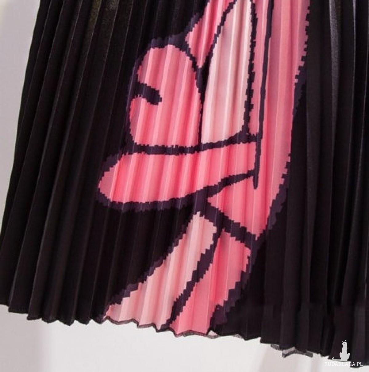 plisowana spódnica rozmiar M motyw różowa pantera