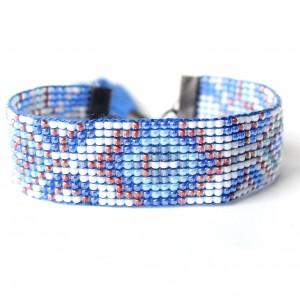 Bransoletka etniczna ,,Blue Indian Summer ,,