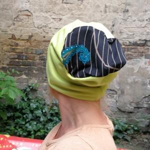 czapka damska limonkowa ciepła miękka