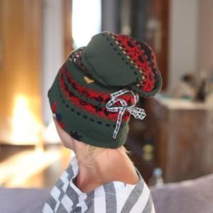czapka wełniana damska Uciekaj o świcie tłusty termicie!