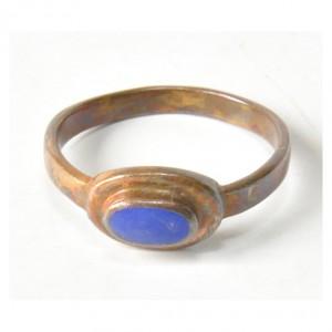 79 stary pierścionek z mosiądzu; pierścionek vintage; dla niej i dla niego;