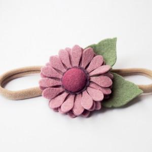 Opaska do włosów z kwiatkiem liliowym