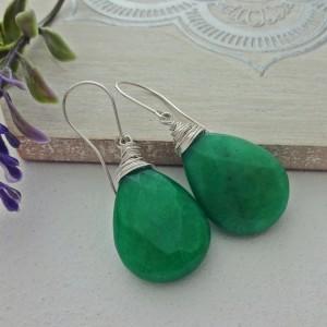 Kolczyki Jadeit Zielony
