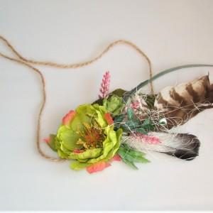 wianek kwiatowy, Boho, opaska na głowę,ślub ,sesja fotograficzna
