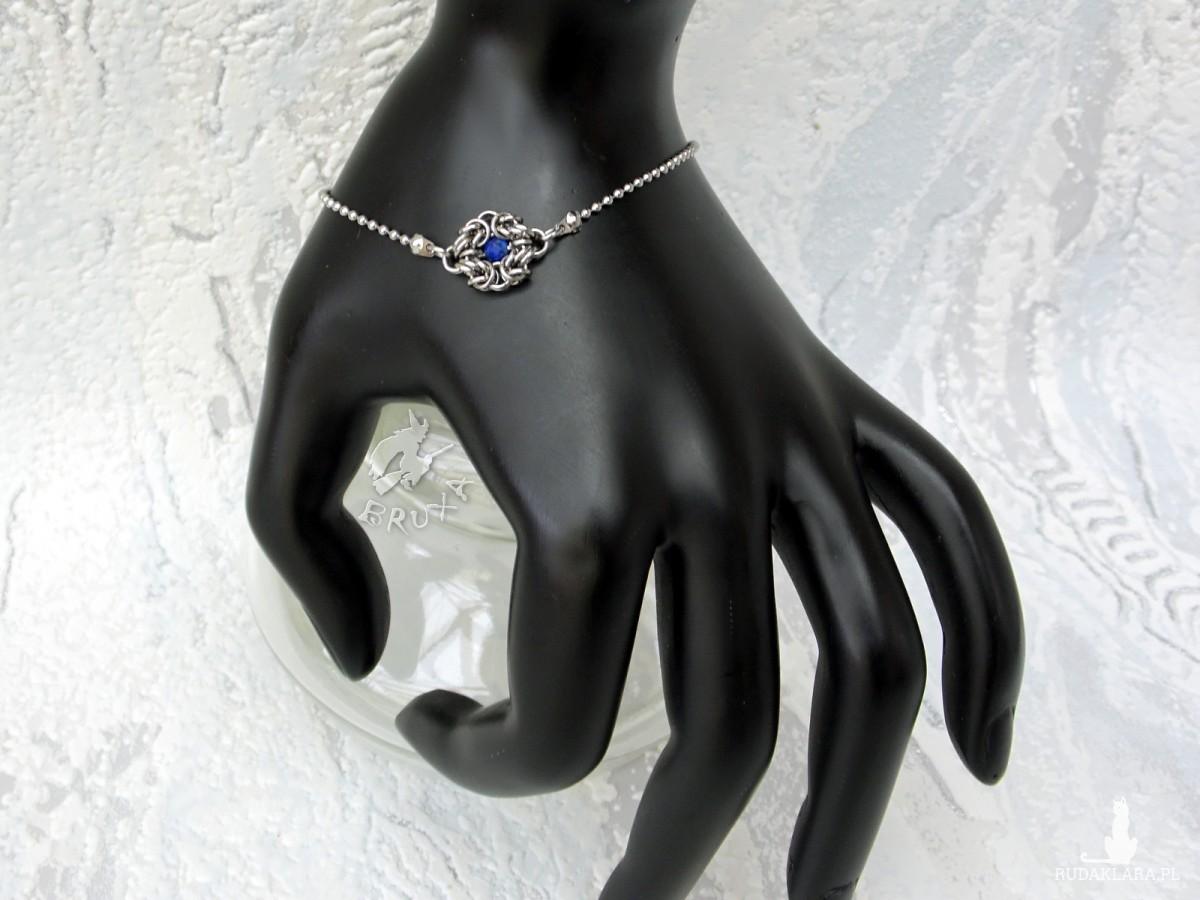 Bransoletka celebrytka z lapis lazuli