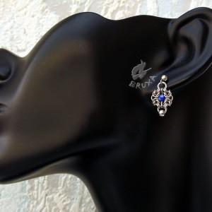 Kolczyki chainmaille Romanov z lapis lazuli