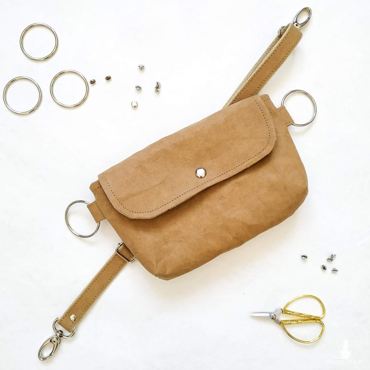 Karmelowa Biodrówka- torebka na pas