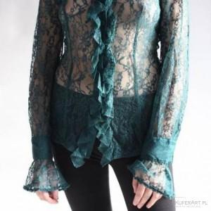 koronkowa turkusowa bluzka