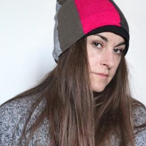 czapka zimowa patchworkowa ciepła damska