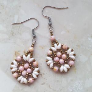 Kolczyki koralikowe Rose