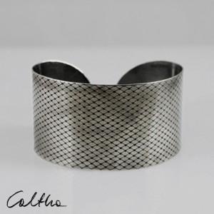 Rybia łuska - metalowa bransoletka szeroka 130220-01