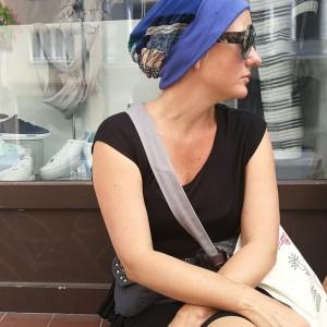 czapka turbanowa etno boho patchwork handmade