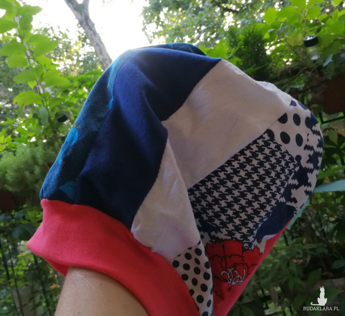 czapka turbanowa etno boho patchwork