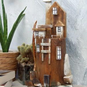 Wieża nr 7 - drewniana dekoracja do domu