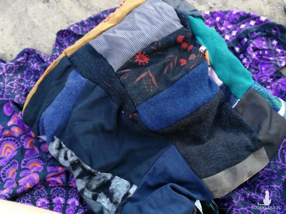 komin damski szyty patchworkowo handmade