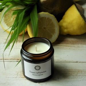 Naturalna świeca sojowa Trawa cytrynowa