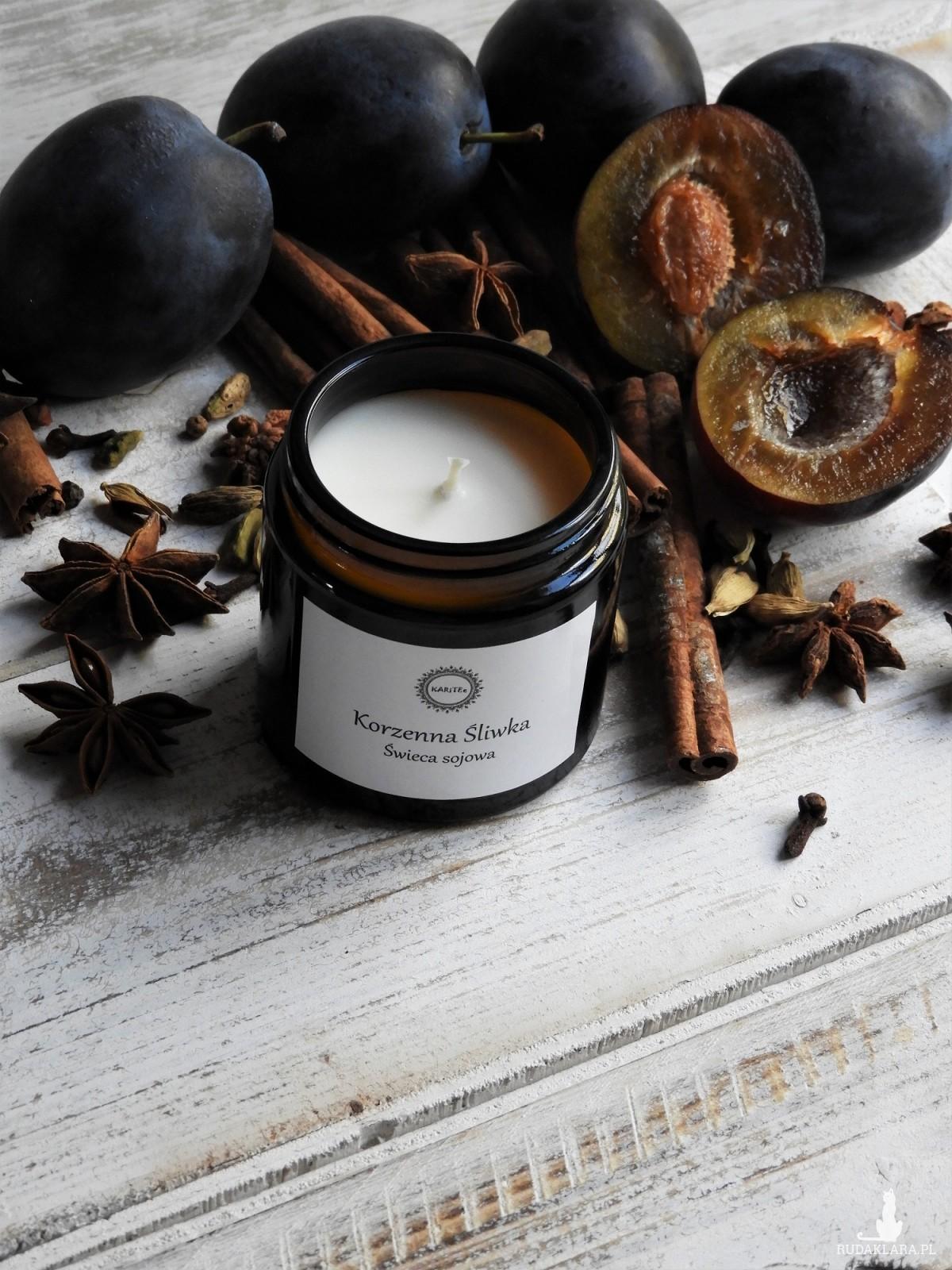 Zapachowa świeca sojowa Korzenna Śliwka