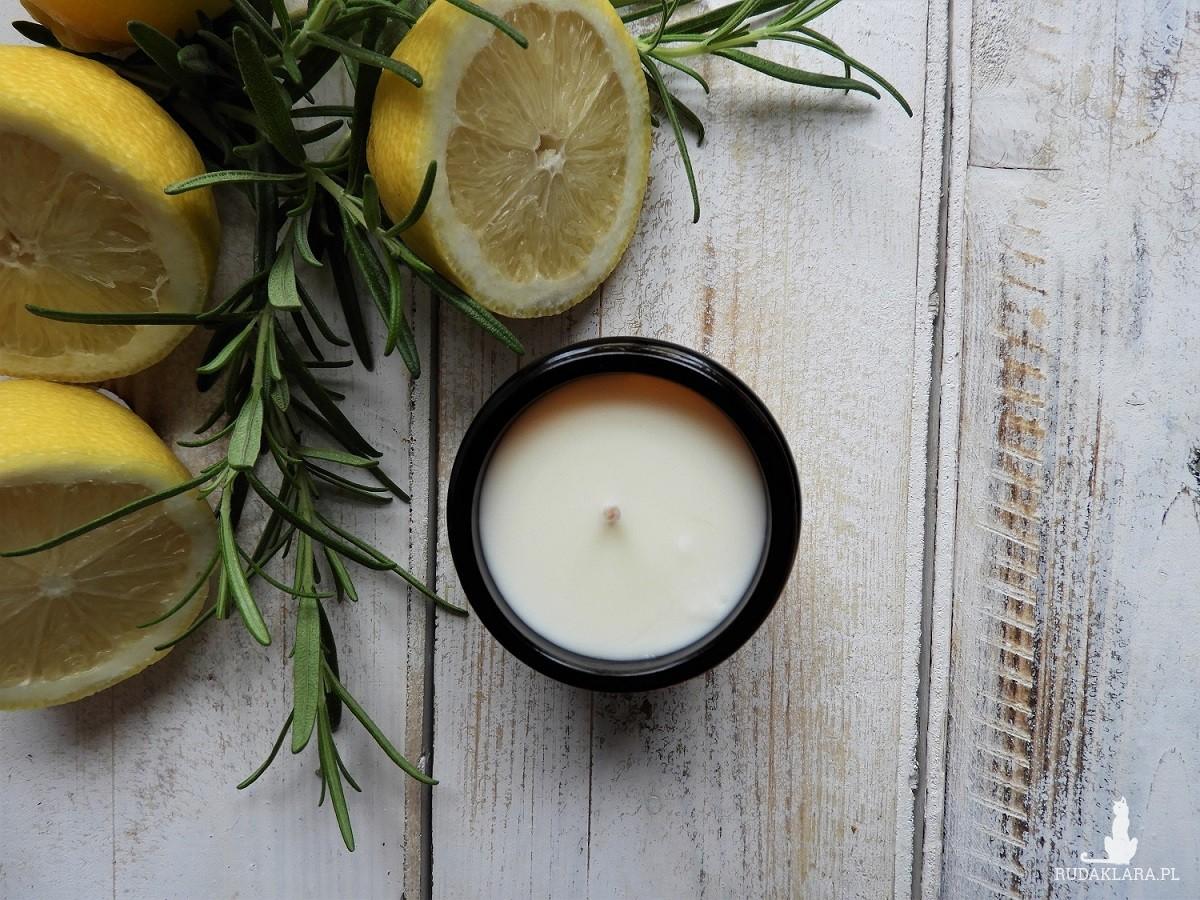 Naturalna świeca sojowa Rozmaryn z Cytryną