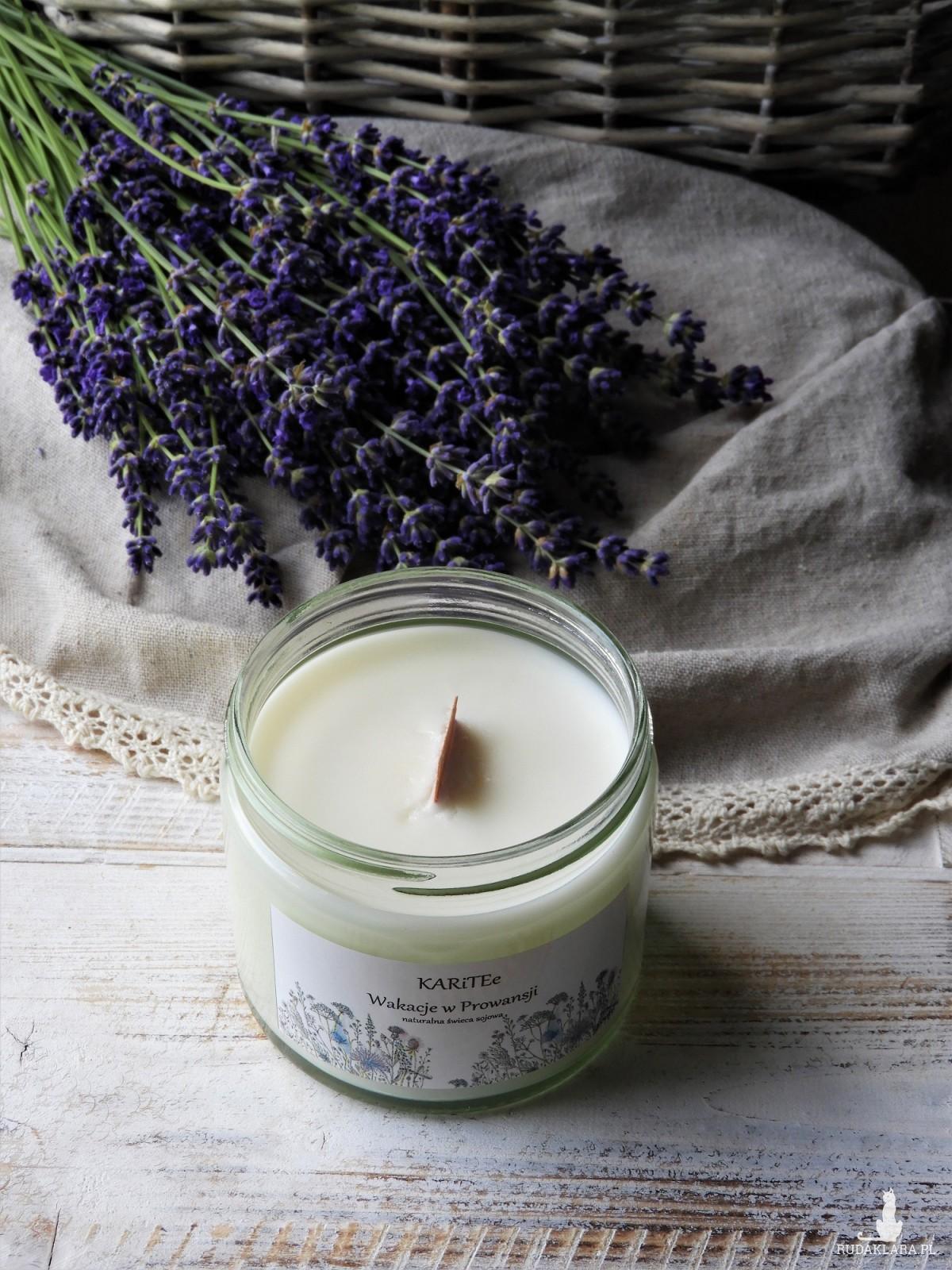 Duża świeca zapachowa sojowa WAKACJE W PROWANSJI