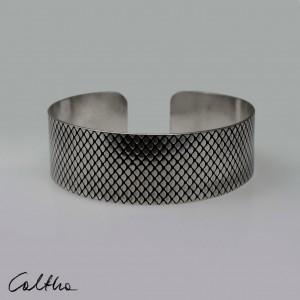 Rybia łuska - metalowa bransoletka średnia 190814-03