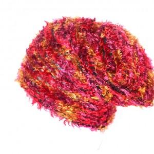 czapka dzianinowa z włosem mechatym