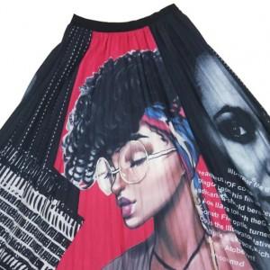 plisowana spódnica rozmiar M/L motyw kobiety