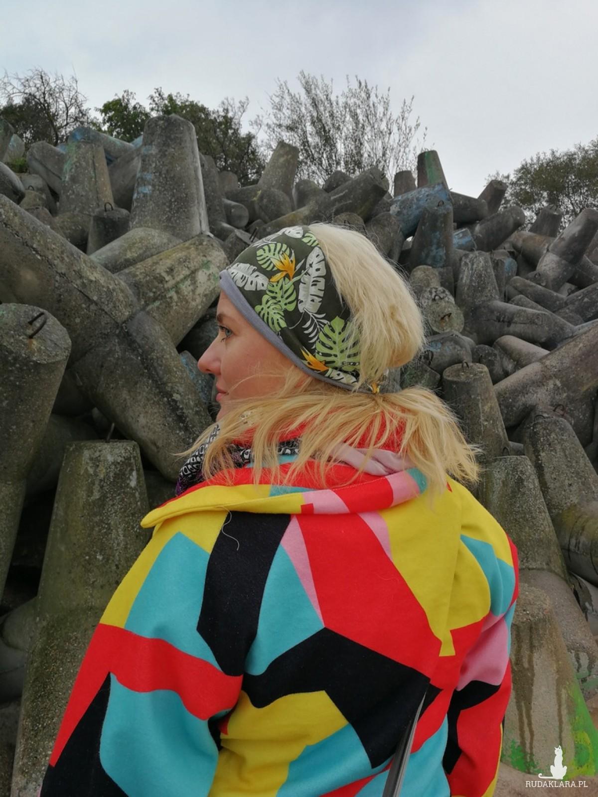 opaska damska etno boho kwiaty sportowa joga handmade