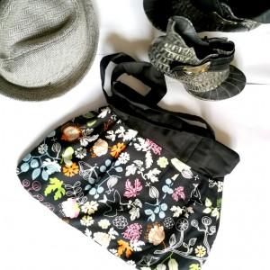torba damska bawełniana z motywem koronki