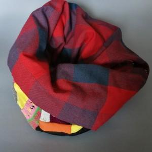 komin patchworkowy ciepły zimowy handmade