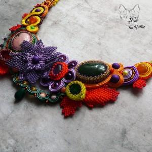 Aura - naszyjnik haft koralikowy i sutasz