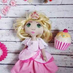 Lalka królewna,aniołek handmade