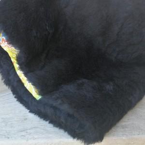czapka futrzana damska czarna boho zimowa- box 44- ciepła, stylowa czapka, obwód głowy 59-60cm, pojedyncza sztuka