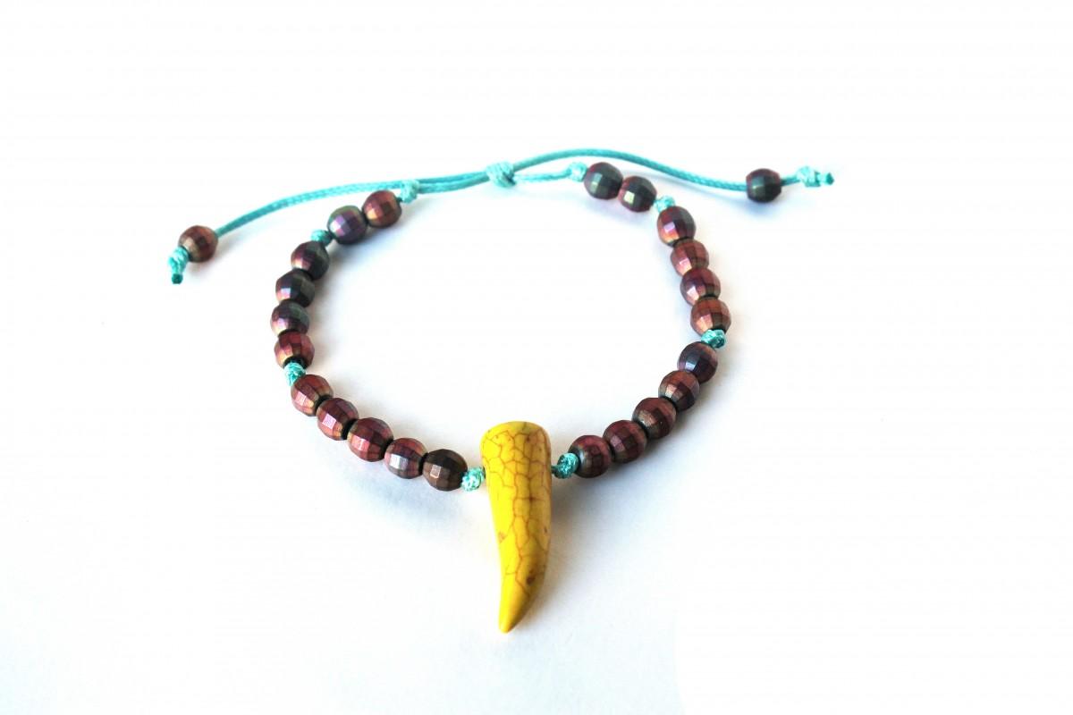 Bransoletka z hematytów ,,Indian Autumn ,,