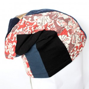 czapka damska szyta patchworkowo