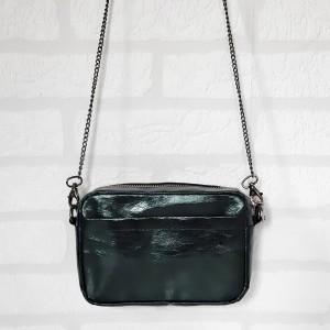 Mała torebka typu box - zielona butelka