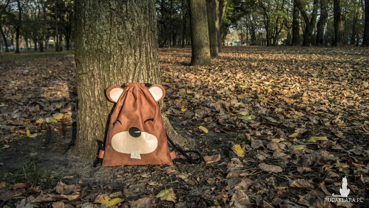Dziecięcy plecak worek Bóbr