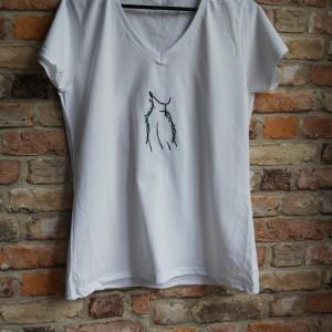 """Koszulka ręcznie haftowana, rozmiar M """"ON"""""""