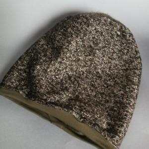 czapka damska ciepła melanż na podszewce