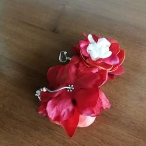 klipsy wiszące kwiaty lekkie