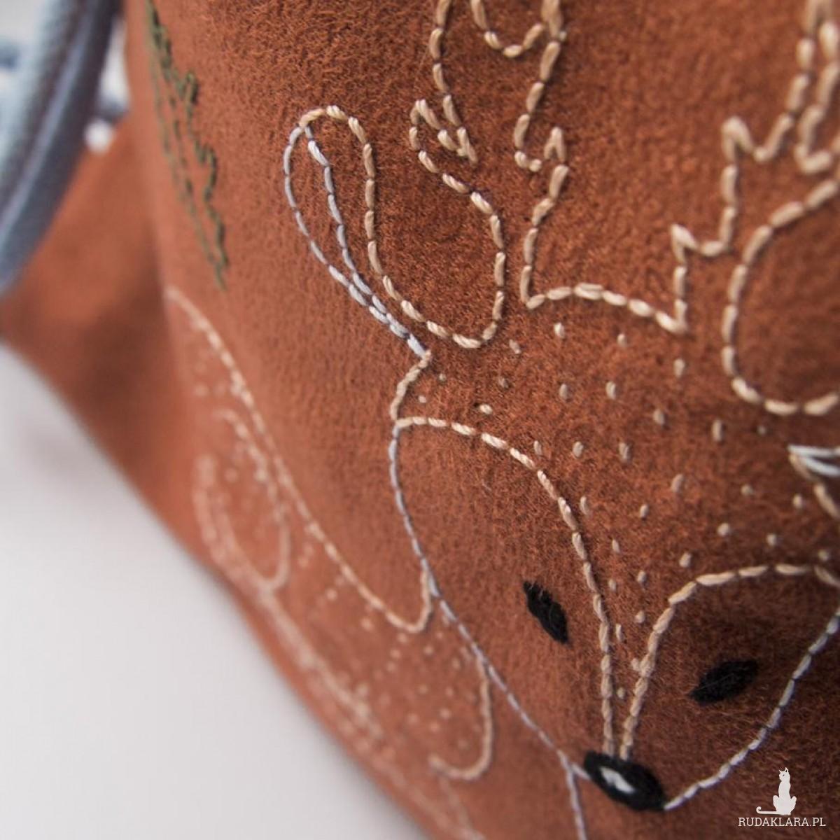 Mini plecaczek dziecięcy z haftowanym jelonkiem