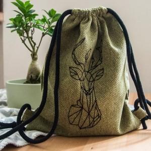 Dziecięcy plecak worek z geometrycznym jeleniem